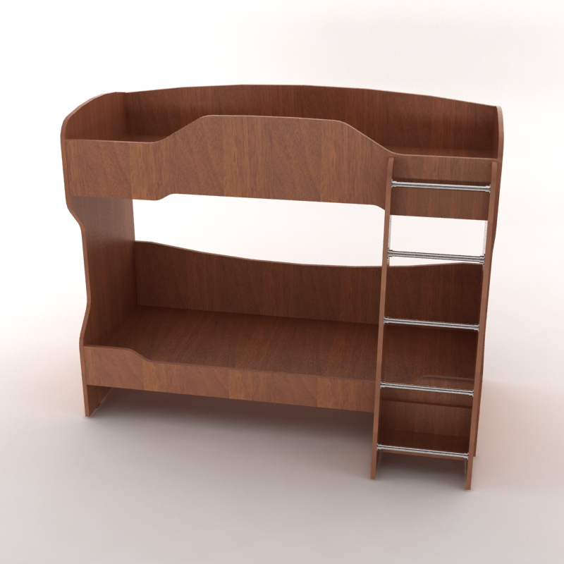 кровать детская двухъярусная рио орех