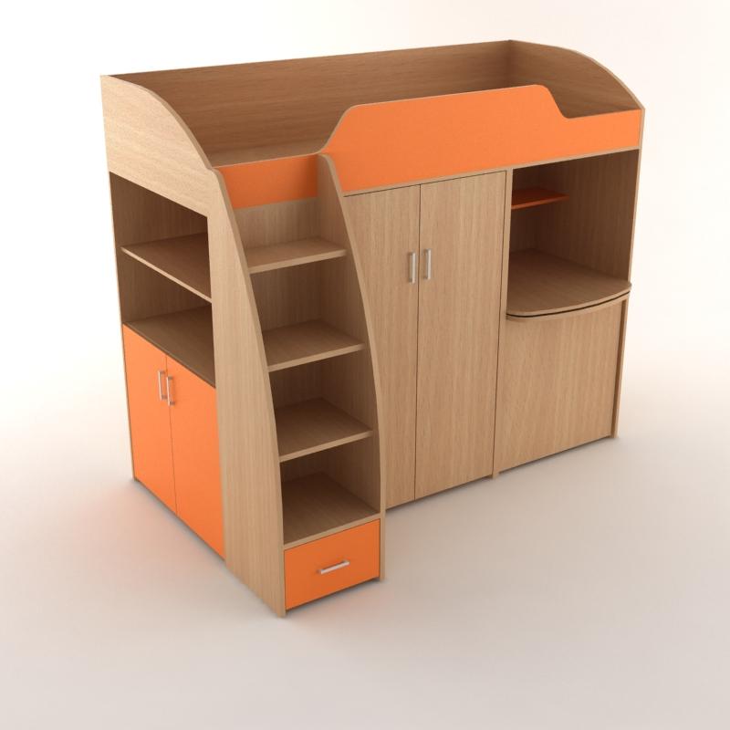 детская непоседа оранжевый стол сложен