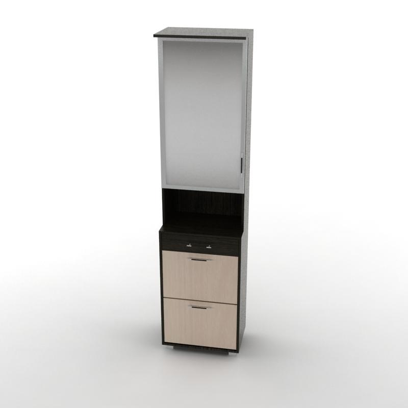 шкаф с зеркалом грация мали венге/дуб молочный