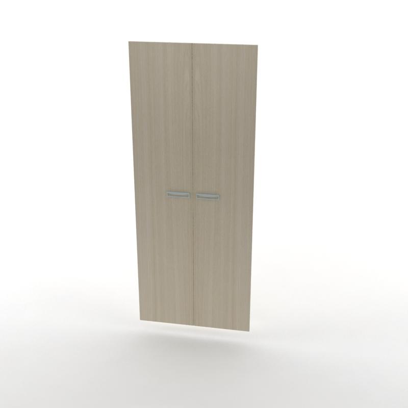 двери высокие для шкафа светлый