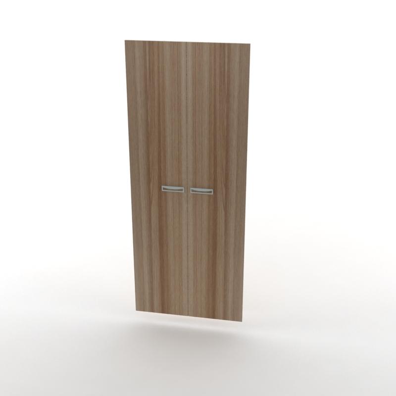 двери высокие для шкафа темный